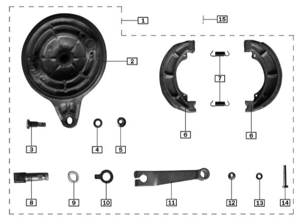 Indicating board,rear brake