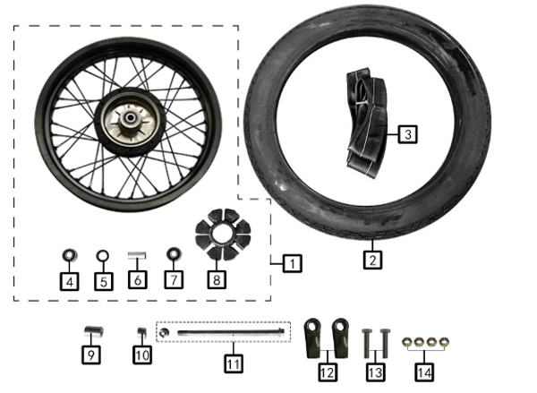 Buffer block,rear wheelx