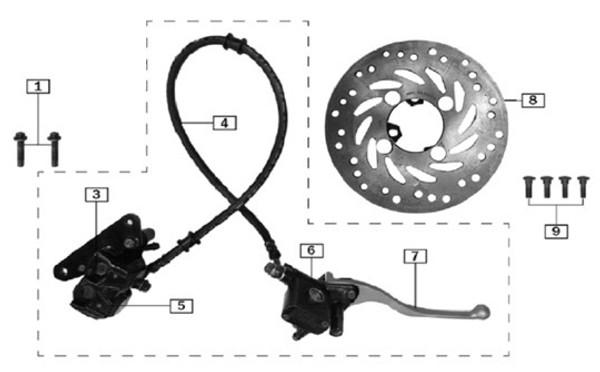 Front brake disc rotor 2