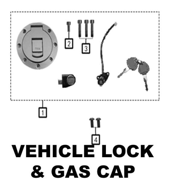 Vehicle lock set