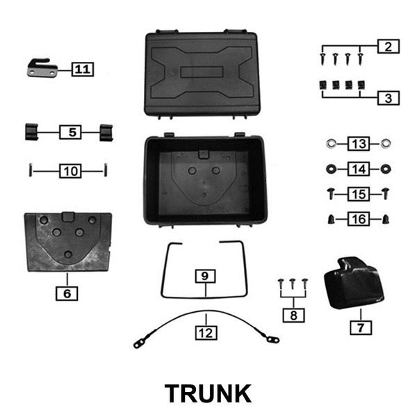 LATCH, TAIL CASE, SIDE CASES, RX3