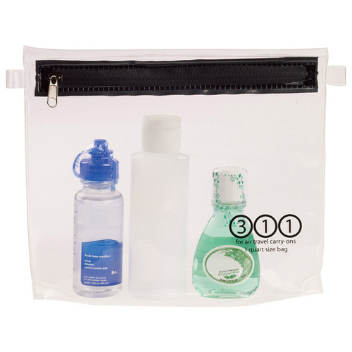 CARRY-ON TOILETRY PCH 1QT CLR