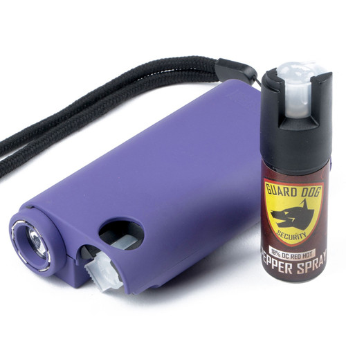 Guard Dog All-In-One Stun Gun/Flashlight/Pepper Spray -Prpl