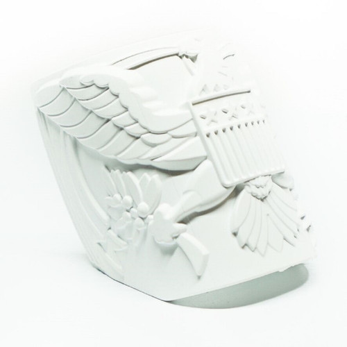 Mako Mojo Replaceable Deco Emblem -  U.S. Crest White