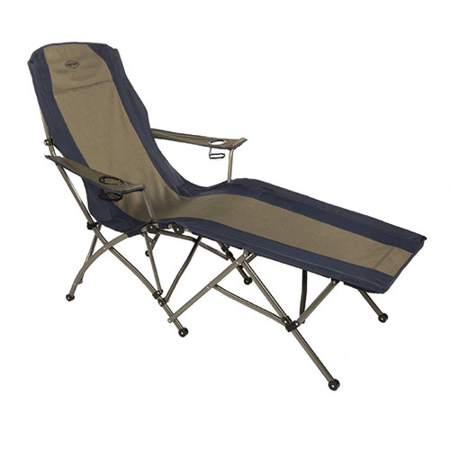 Kamp-Rite Soft Arm Lounger - Tan/Blue