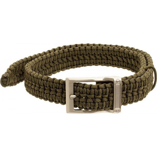 Timberline Olive Paracord Survival Belt-Small
