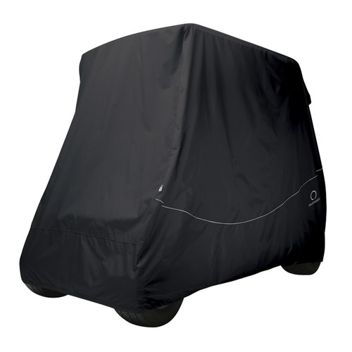 Classic Fairway Golf Cart Quick-Fit Cover Long Roof - Black