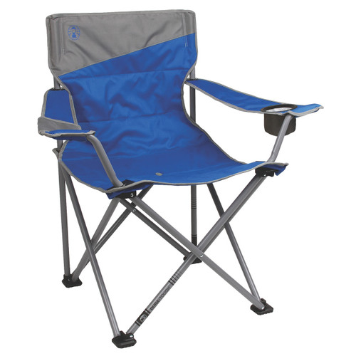 Coleman Big-N-Tall Quad Chair-Blue/Grey Fits Up To 600lbs