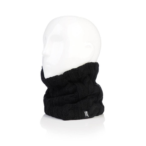 Grabber Heat Holders Ladies Neck Warmer-Black