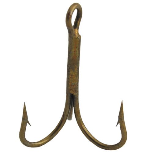 Danielson Bronze Treble Hook Size 1/0 - Pkg of 144