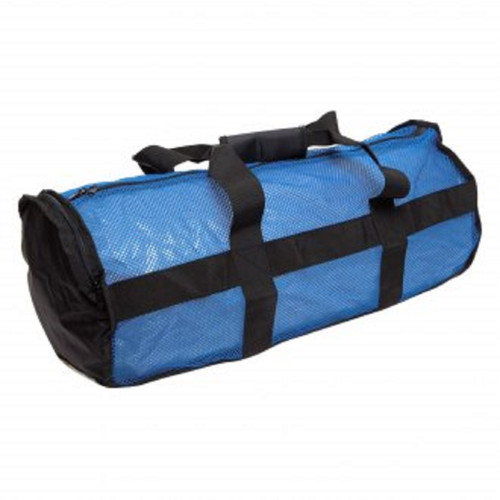 Nat Geo Clamshell Deluxe Drawstring 2Pocket Duffle-Blue/Blk