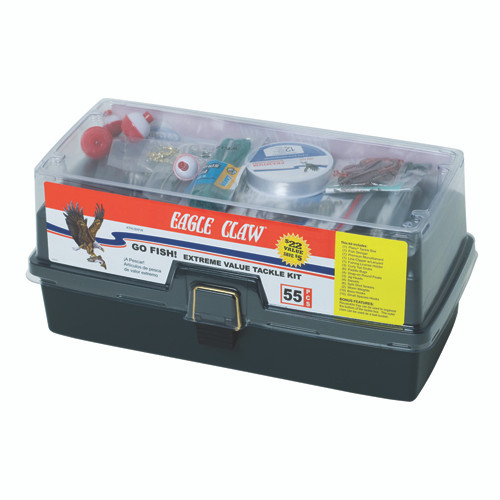 Eagle Claw Go Fish Extreme Tackle Box Kit  KTKLBXFW-D