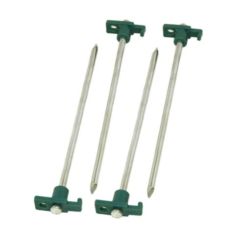 Coleman 10 Inch Steel Tent Stakes Green/Silver 2000016444