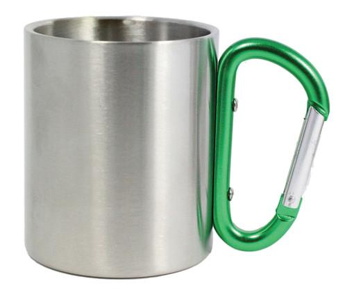 CARABINER MUG-GREEN 10 OZ.