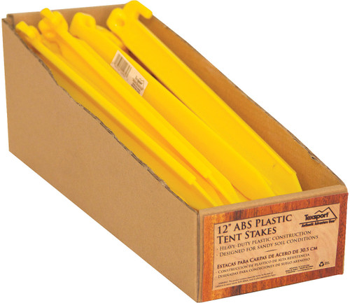 "12"" PLASTIC TENT STAKE (PDQ)"