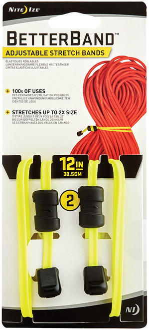 "BETTERBAND 12"" 2PK NEON YELLOW"