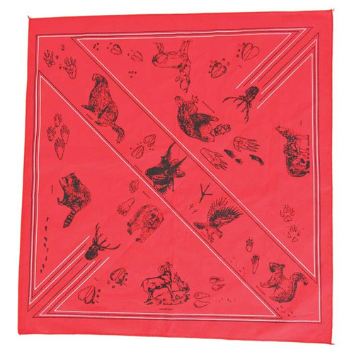BANDANA ANIMAL TRACKS ASSORT