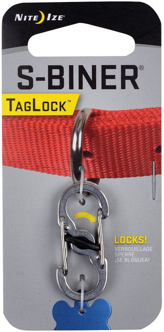 S-BINER TAG LOCK STAINLESS