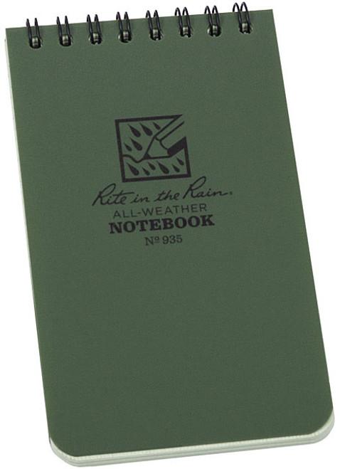 TOP SPIRAL BOOK-GREEN 3 x 5