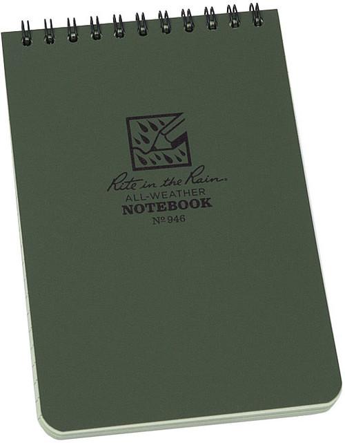 TOP SPIRAL BOOK-GREEN 4 X 6