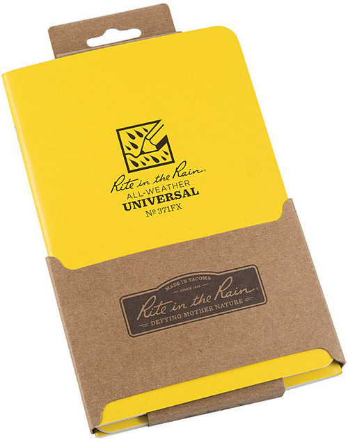 NOTEBOOK 4 5/8 X 7 3PK YELLOW