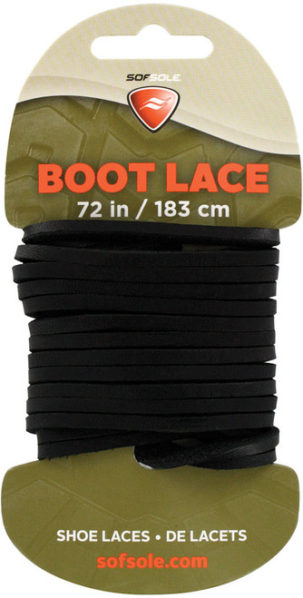 """BOOT LACE BLACK LEATHER 72"""""""