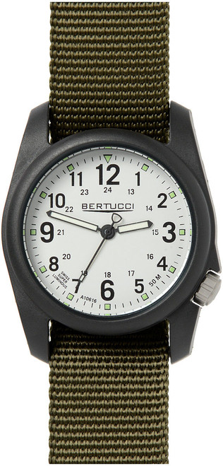 DX3 STONE DIAL/OLIVE BAND