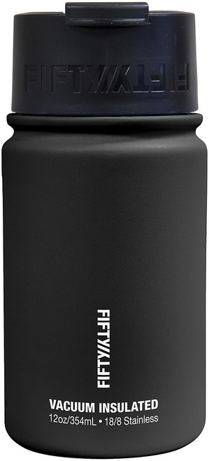 12OZ VAC INSUL FLIP TOP BLACK