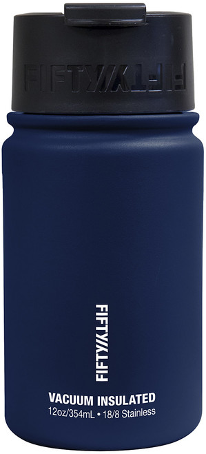 12OZ VAC INSUL FLIP TOP NAVY