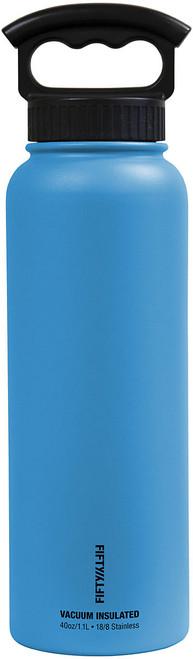 40OZ VAC INSUL W/3 FING BLUE