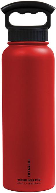 40OZ VAC INSUL W/3 FING RED