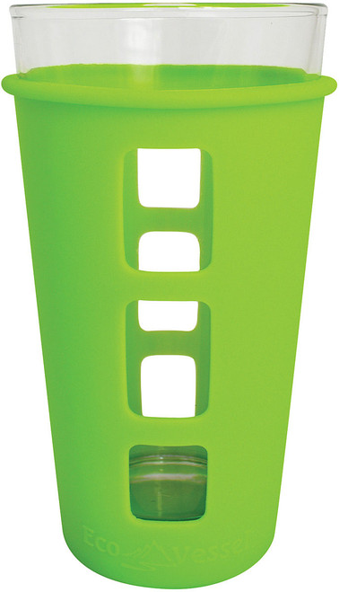 VIBE GLASS PINT SILICONE GREEN