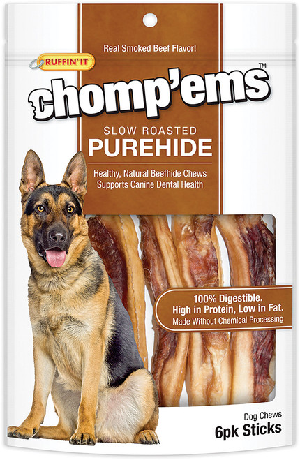 CHOMP'EMS PUREHIDE STICKS 6PK