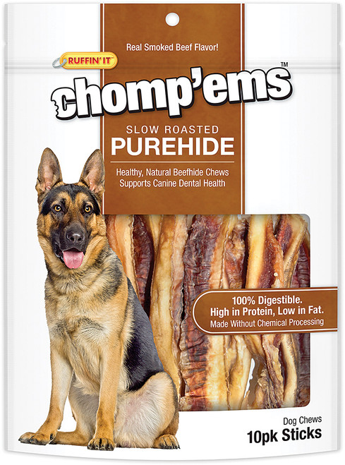 CHOMP'EMS PUREHIDE STICKS 10PK