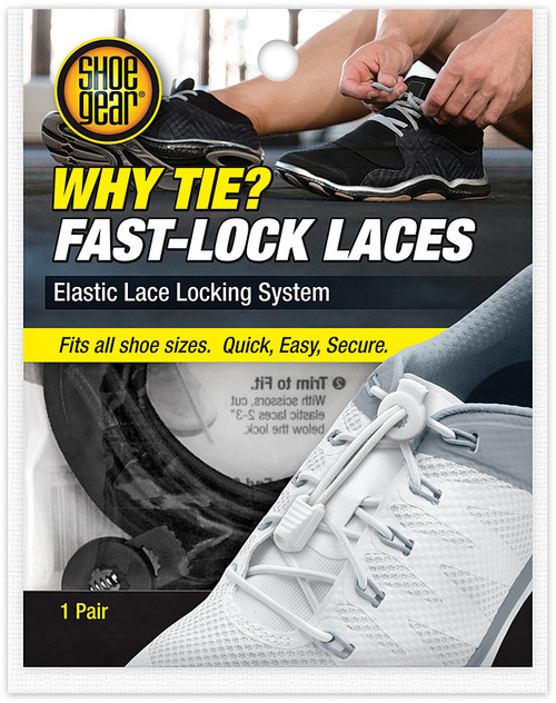 WHY TIE FAST LOCK LACES BLACK