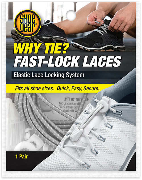 WHY TIE FAST LOCK LACES GRAY