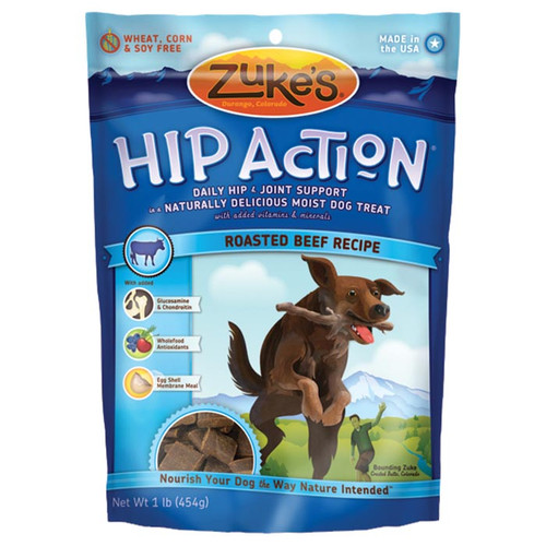 HIP ACTION BEEF TREATS 16 OZ