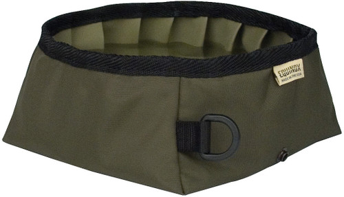 BUDDY'S TRAVEL BOWL OLIVE GRN