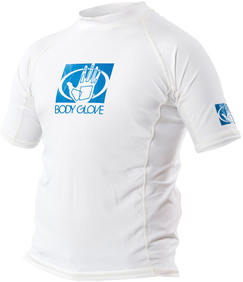 FITTED RASHGUARD JR SS WHITE 6
