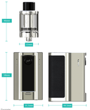 Wismec Reuleaux RX Mini Starter Kit Dimensions