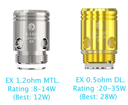 5 Pack Joyetech EX Coil Atomizer Heads
