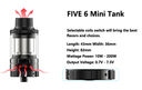 Kanger Five 6 Mini Vape Tank Specification