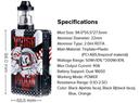 Sigelei Vcigo Moon Box 200W Mod Kit with Moonshot 24mm RDTA Specification