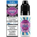 Blackberry Crumble Nic Salt E Liquid 10ml By Dinner Lady