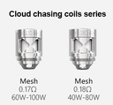 3 Pack Smoant Naboo Atomizer Single Mesh Coil Heads