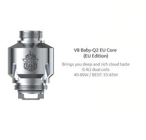 3 Pack SMOK TFV8 Baby Coils EU Edition including Q2 coils, or T8 coils.