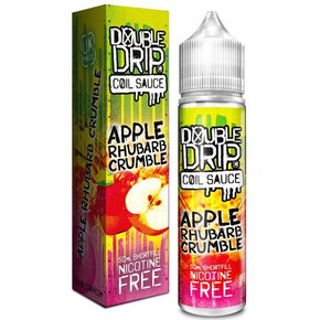 Apple & Rhubarb Crumble E Liquid 50ml by Double Drip Coil Sauce Only £9.99 (INC Free Nic Shots or Zero Nicotine)