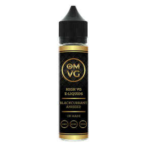 Blackcurrant & Aniseed Shortfill E Liquid 50ml by OMVG (FREE NICOTINE SHOT)
