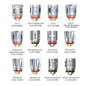 3 Pack iJoy Diamond DM Atomizer Coil Heads Range