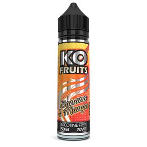 Banana & Mango E Liquid 50ml by KO Vapes (Includes Free Nicotine Shot)